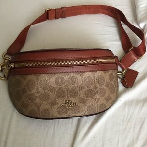 Coach Brown Leather Fanny Pack